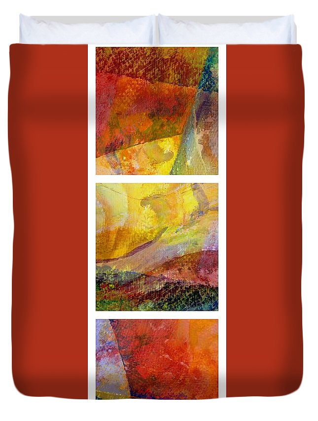 Abstract Collage Duvet Cover featuring the painting Abstract Collage No. 2 by Michelle Calkins