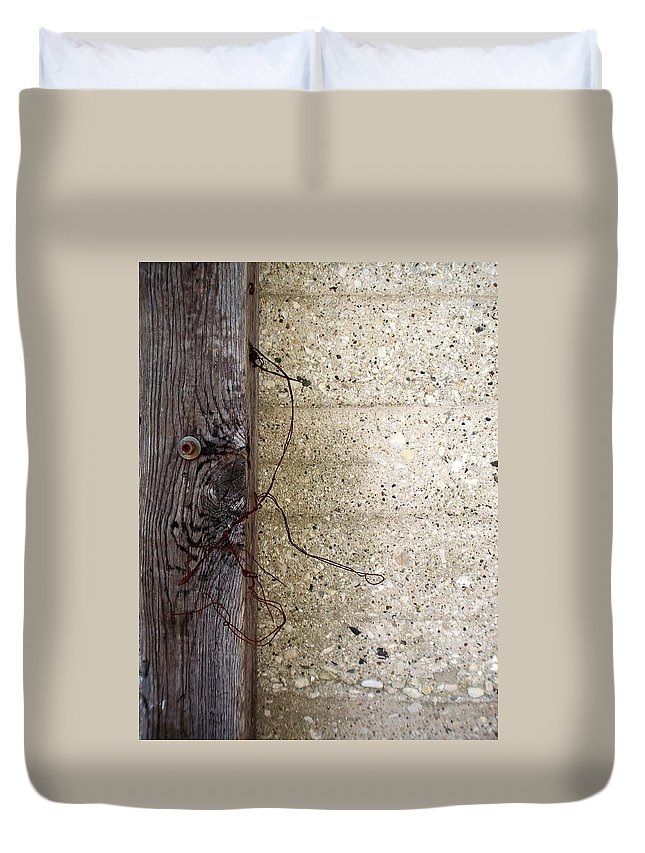 Industrial. Urban Duvet Cover featuring the photograph Abstract Concrete 11 by Anita Burgermeister