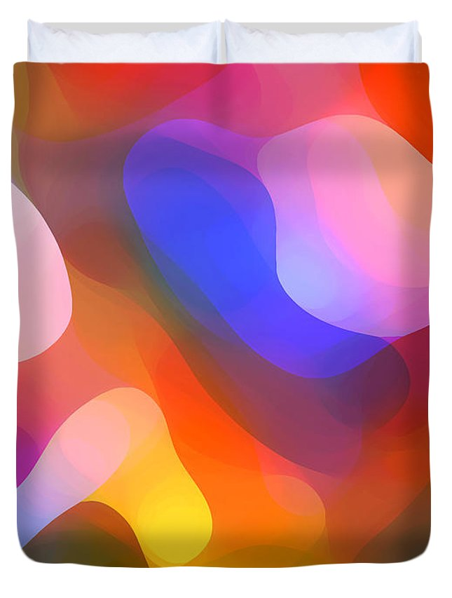 Abstract Art Duvet Cover featuring the painting Abstract Dappled Sunlight by Amy Vangsgard