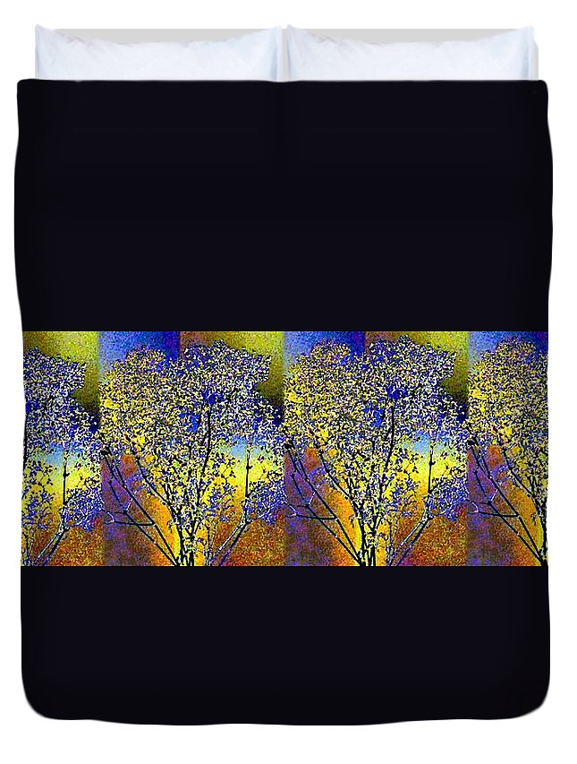 Abstract Fusion Duvet Cover featuring the digital art Abstract Fusion 100 by Will Borden