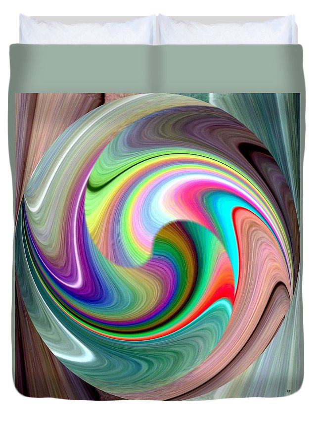 Abstract Fusion 241 Duvet Cover featuring the digital art Abstract Fusion 241 by Will Borden