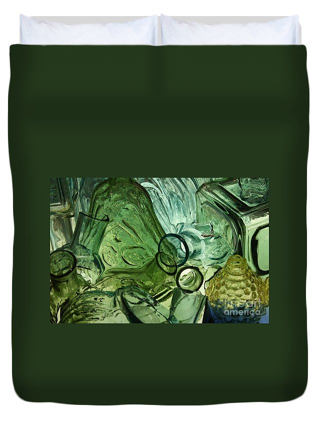 Abstract Duvet Cover featuring the photograph Abstract In Green by Crystal Nederman