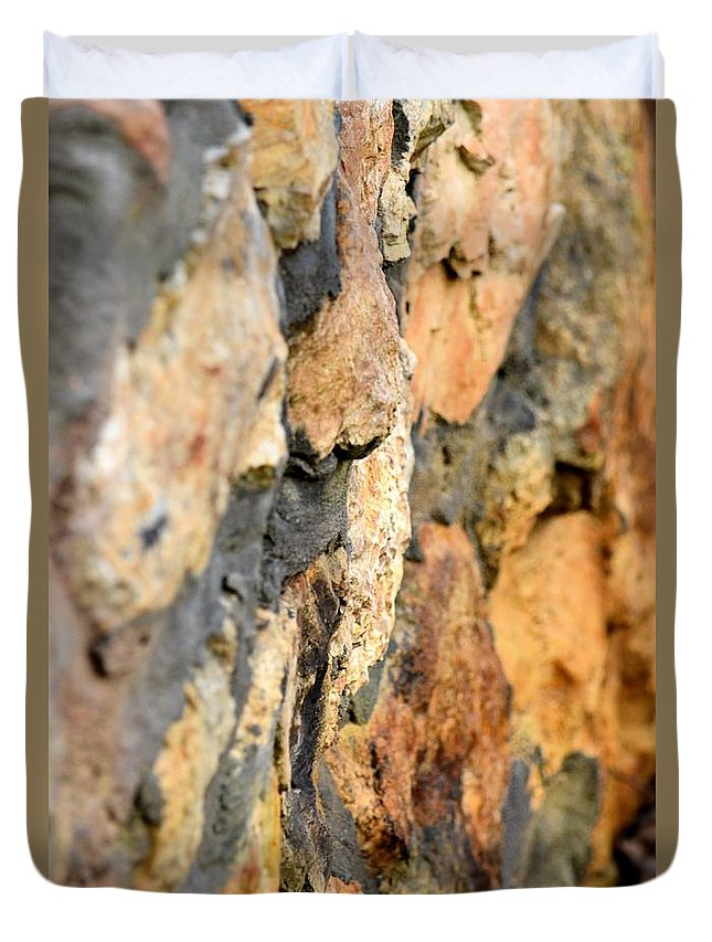 Abstract Natural Stone Duvet Cover featuring the photograph Abstract Natural Stone by Maria Urso