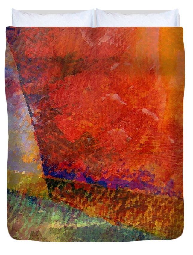 Abstract Collage Duvet Cover featuring the painting Abstract No. 1 by Michelle Calkins