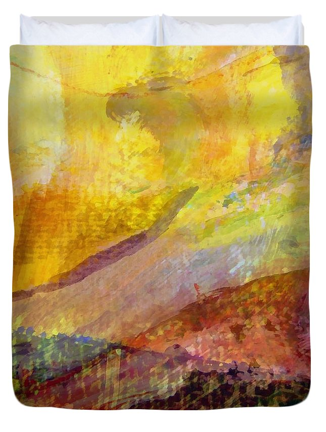 Abstract Collage Duvet Cover featuring the painting Abstract No. 3 by Michelle Calkins