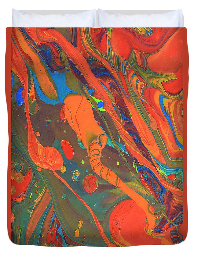 Full Frame Duvet Cover featuring the photograph Abstract Paint Background by Don Farrall