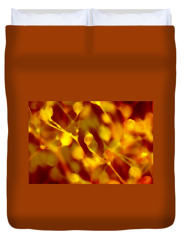 Plant Duvet Cover featuring the digital art Abstract Plants by Steve Ball