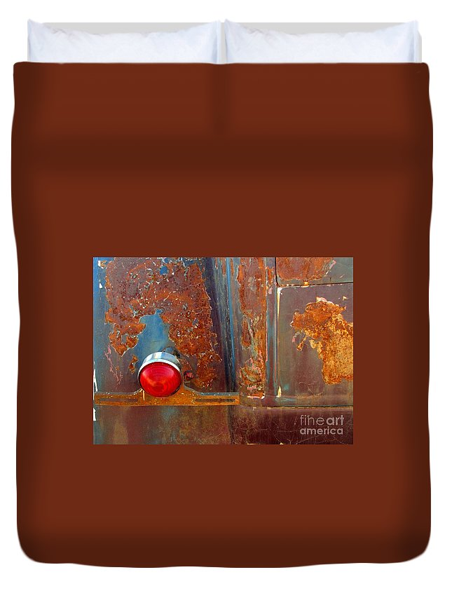 Rust Duvet Cover featuring the photograph Abstract Rust by Marilyn Smith