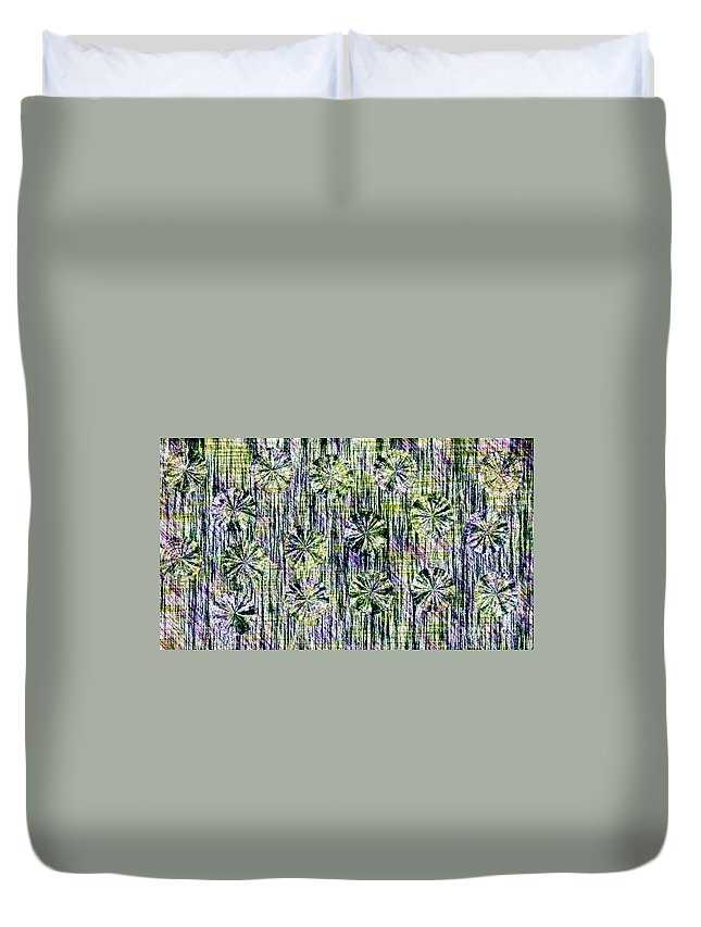 Abstract Duvet Cover featuring the photograph Abstract Umbrellas In Rain by Darleen Stry