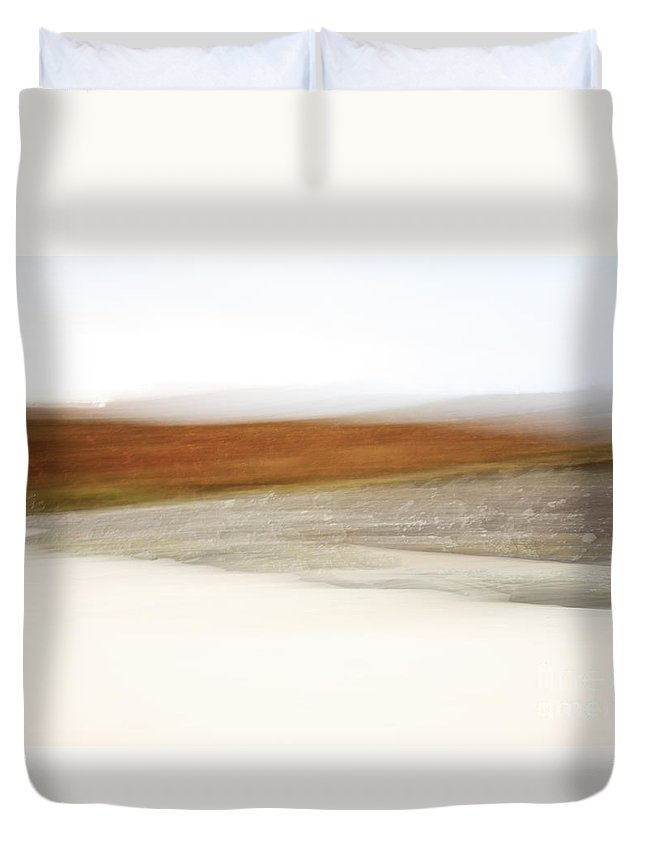 Abstract Duvet Cover featuring the photograph Abstract View Of Morar Bay by Deborah Benbrook