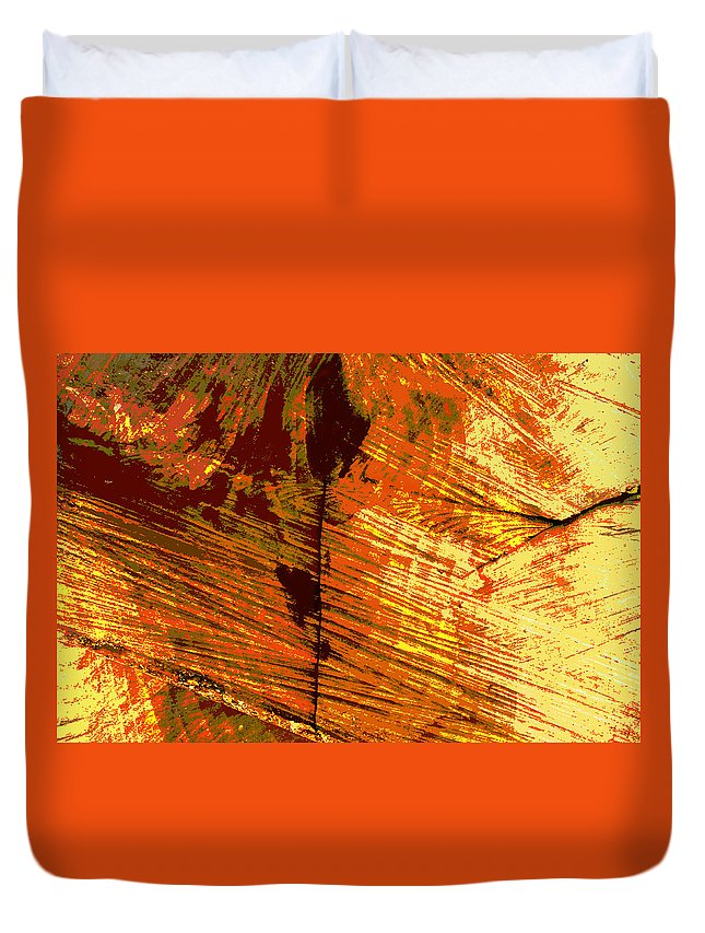 Abstract Duvet Cover featuring the photograph Abstract Wood Grain by John Lautermilch