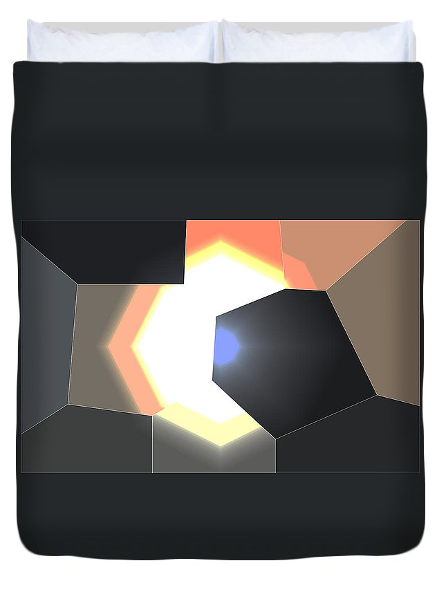 Irish Photography Duvet Cover featuring the photograph Abstract Work by Dave Byrne