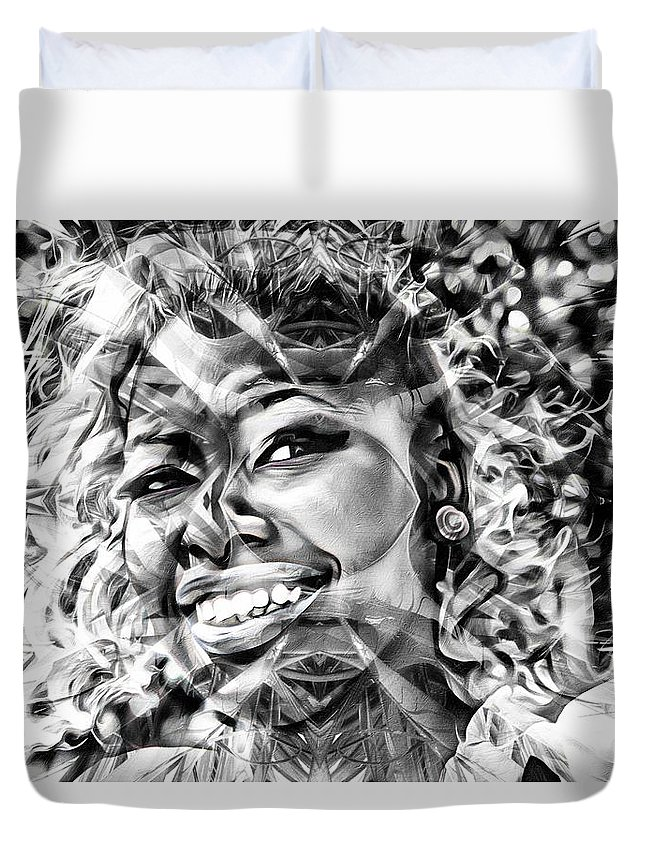 Woman Duvet Cover featuring the photograph Abstracted Lady by Alice Gipson