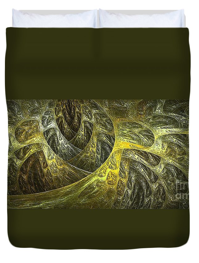 Geometric Duvet Cover featuring the photograph Abstraction 159-03-13marucii by Marek Lutek