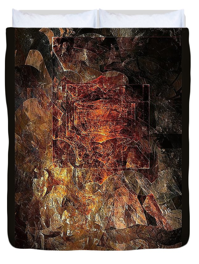 Abstract Duvet Cover featuring the digital art Abstraction 464-09-13 Marucii by Marek Lutek