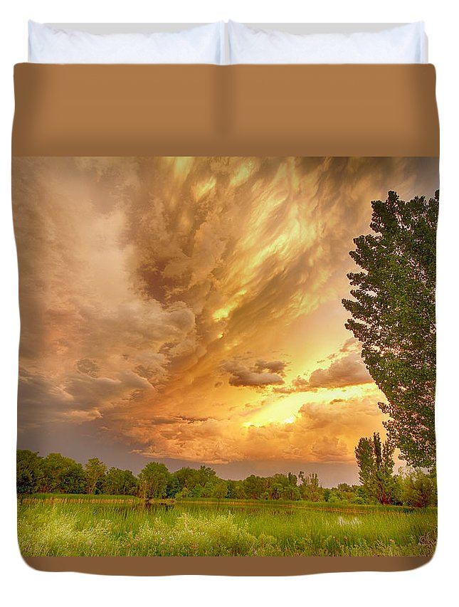 Sunsets Duvet Cover featuring the photograph Abyss In The Sky by James BO Insogna