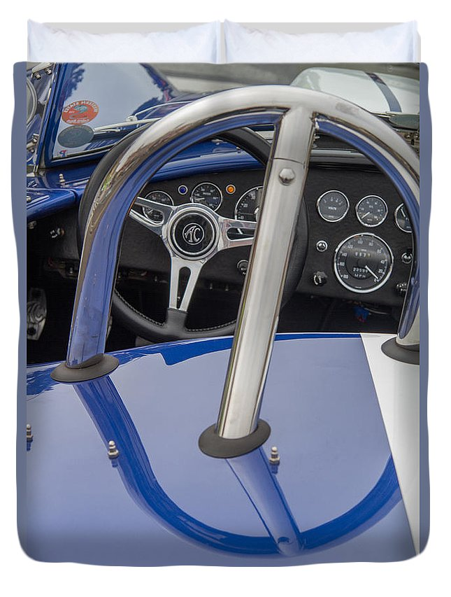 Ac427r Cobra Duvet Cover featuring the photograph Ac 427r Cobra Interior by Roger Mullenhour