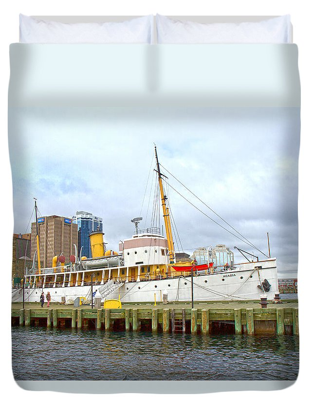 Boat Duvet Cover featuring the photograph Acadia by Betsy Knapp