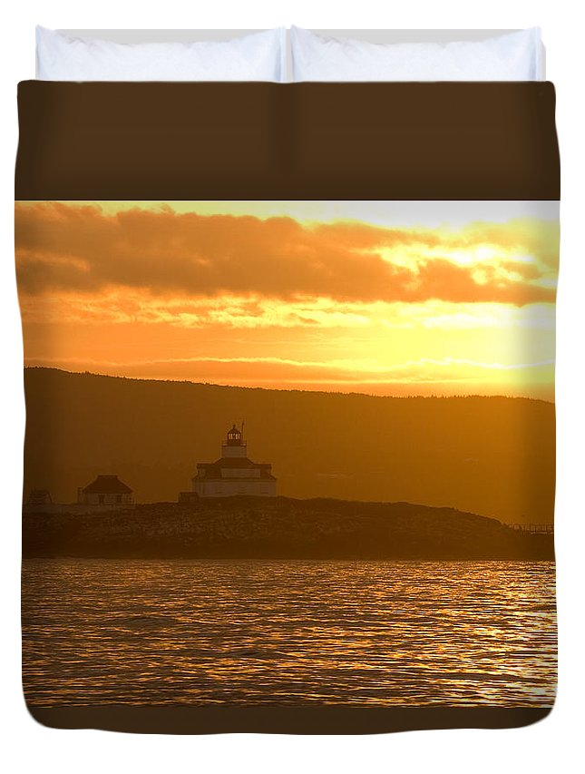 Acadia National Park Duvet Cover featuring the photograph Acadia Lighthouse by Sebastian Musial