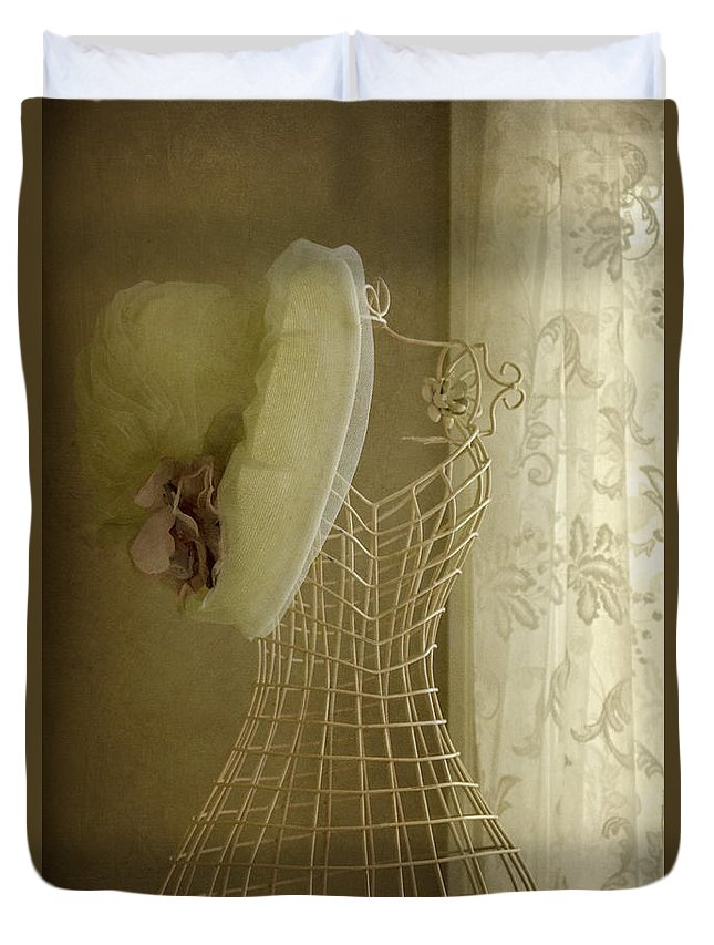 Antique Duvet Cover featuring the photograph Accessory by Margie Hurwich