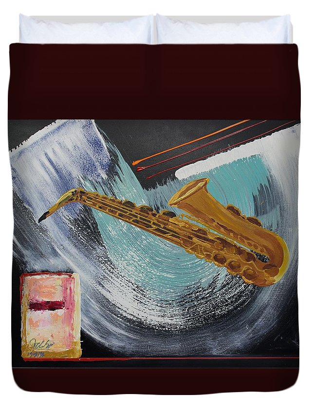 Originals Duvet Cover featuring the painting Acrylic Msc 036 by Mario Sergio Calzi