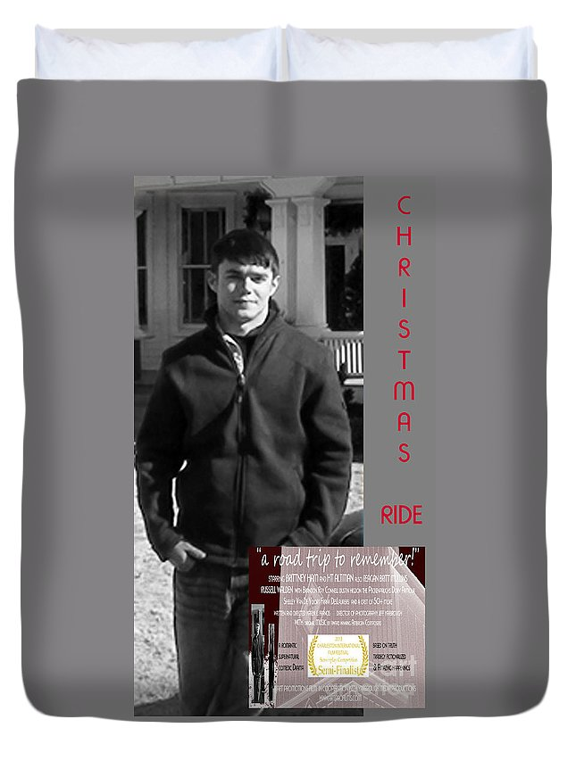 Poster Duvet Cover featuring the digital art Actor In Christmas Ride Film by Karen Francis