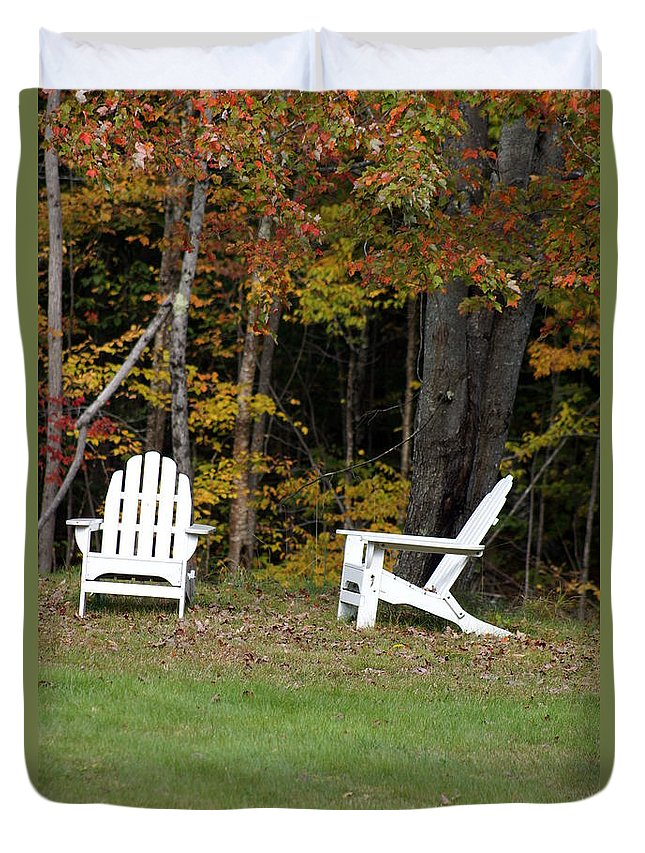 Newhampshire Duvet Cover featuring the photograph Adirondack Foliage by Kerri Mortenson
