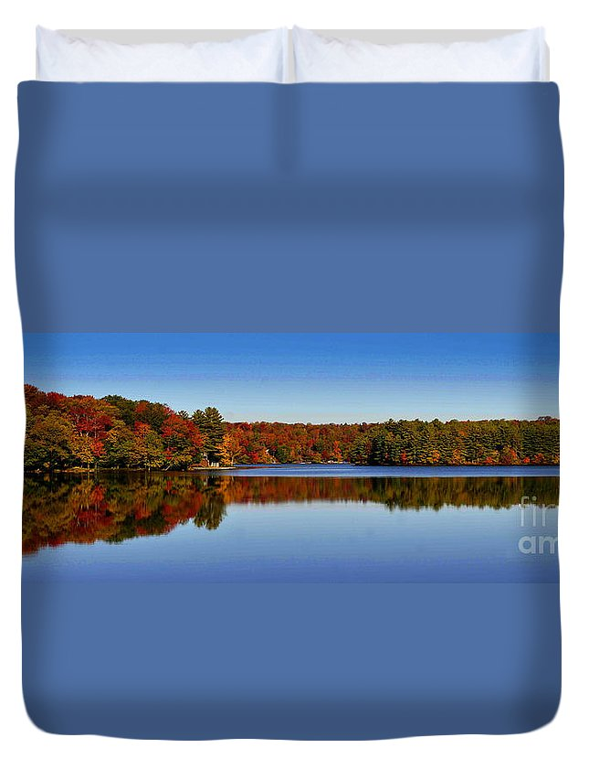 Diane Berry Duvet Cover featuring the photograph Adirondack October by Diane E Berry