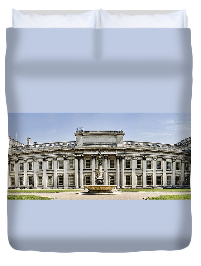 Royal Naval College Duvet Cover featuring the photograph Admirals House by Heather Applegate