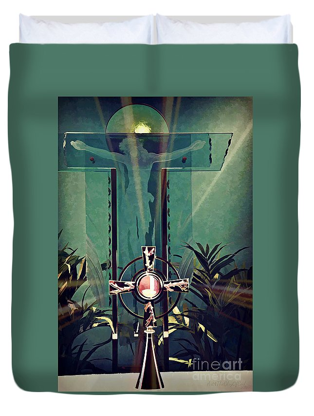 Digital Paint Effect Duvet Cover featuring the photograph Bread From Heaven by Sharon Tate Soberon