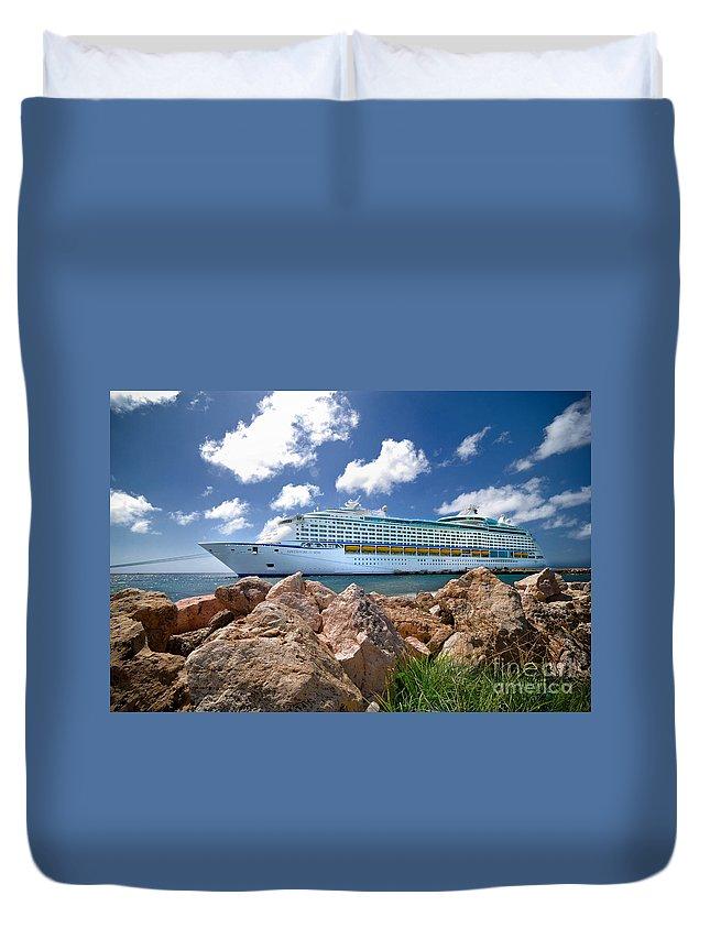 Adventure Of The Seas Duvet Cover featuring the photograph Adventure Of The Seas by Amy Cicconi