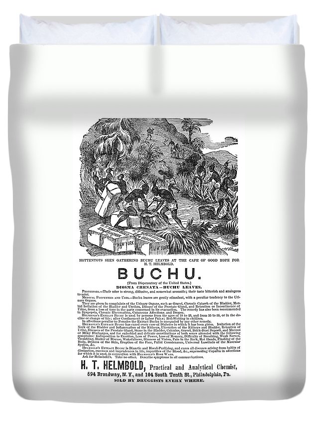 1871 Duvet Cover featuring the photograph Advertisement: Buchu, 1871 by Granger