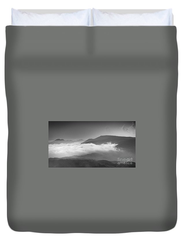 Aerial Photo Duvet Cover featuring the photograph Aerial Mist by Guido Montanes Castillo