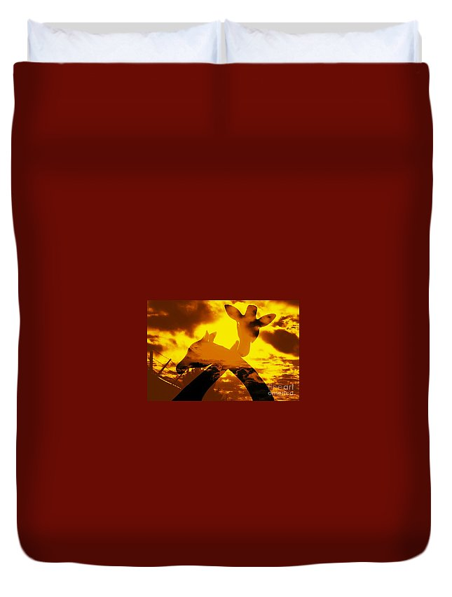 Duvet Cover featuring the photograph Affection by Jessica Shelton