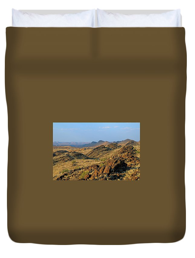 Scenics Duvet Cover featuring the photograph African Scenery by Vittorio Ricci - Italy