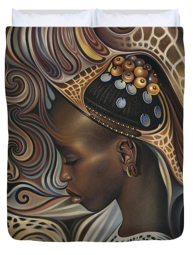 African Woman Duvet Covers