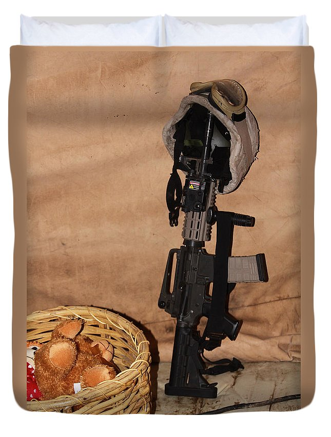 Military Duvet Cover featuring the photograph After A Hard Day In Combat by Shoal Hollingsworth