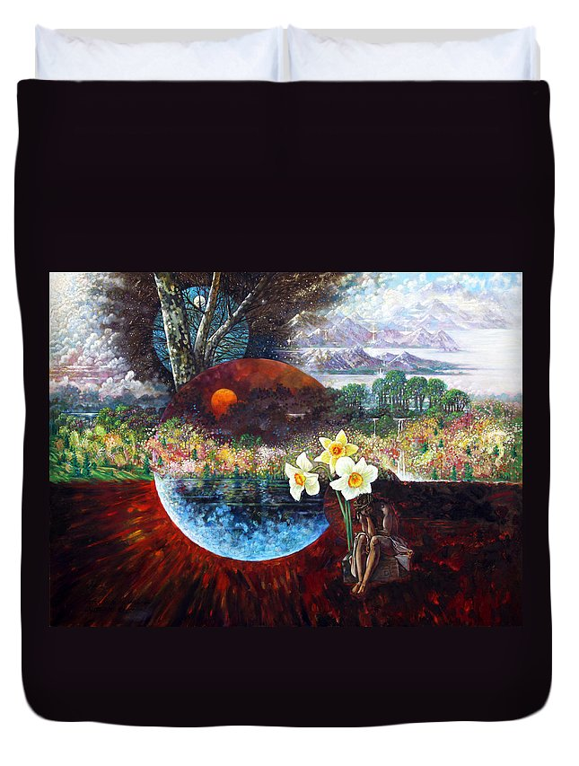 Jesus Christ Duvet Cover featuring the painting After The Death Of Christ by John Lautermilch