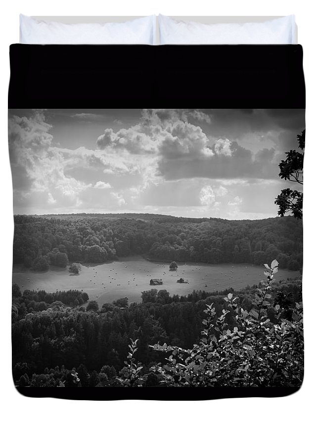 Harz Duvet Cover featuring the photograph After The Last Mowing by Andreas Levi