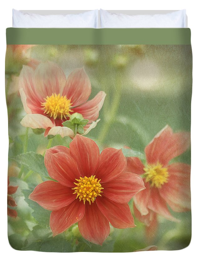 Flower Duvet Cover featuring the photograph After The Rain by Kim Hojnacki
