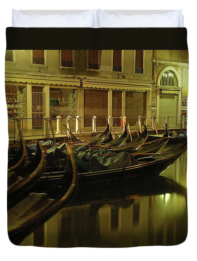 Venice Duvet Cover featuring the photograph After The Romance by George Buxbaum