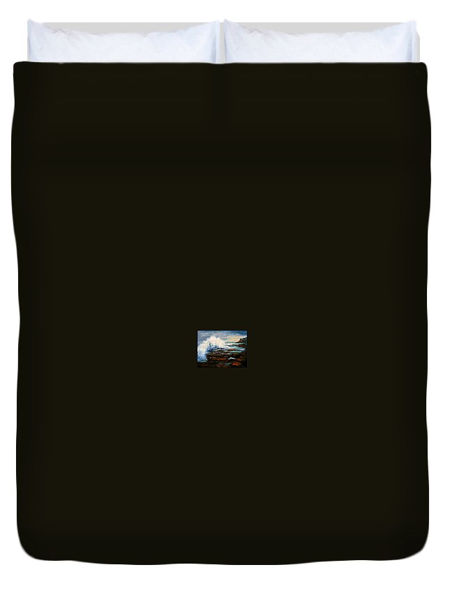 Seascape Duvet Cover featuring the painting After The Storm by Gail Kirtz