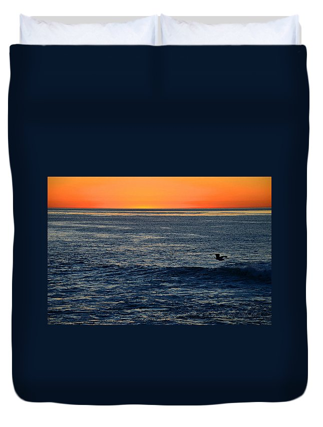 California Duvet Cover featuring the photograph After The Sunset Glow In La Jolla by Sharon Tate Soberon