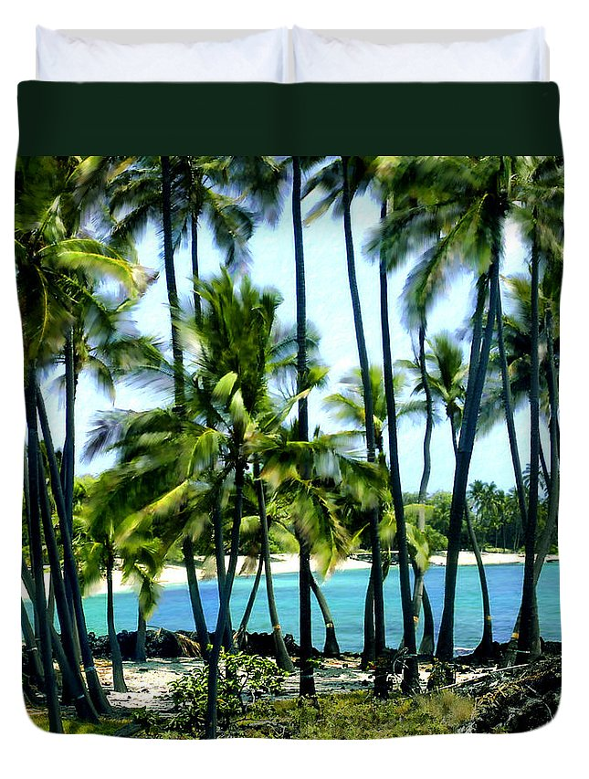 Hawaii Duvet Cover featuring the photograph Afternoon At Kakaha Kai by Kurt Van Wagner