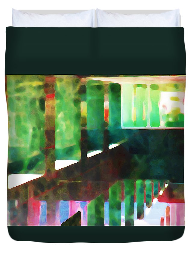 Abstract Duvet Cover featuring the photograph Afternoon At The Office by Andre Aleksis