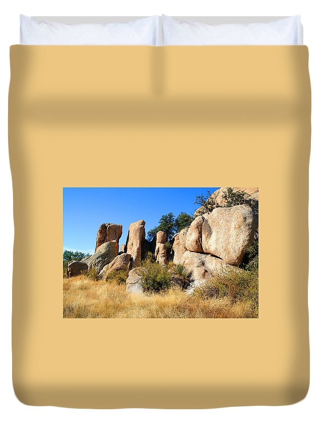 Canyon Duvet Cover featuring the photograph Afternoon In The Canyon by Joe Kozlowski
