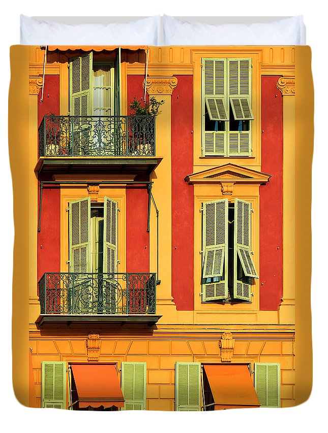 Cote D\'azur Duvet Cover featuring the photograph Afternoon Windows by Inge Johnsson