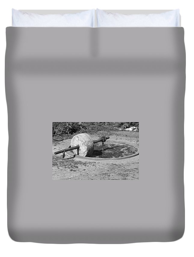 Agave Duvet Cover featuring the photograph Agave Mill by Michael Peychich