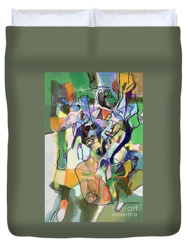 Torah Duvet Cover featuring the digital art Self-renewal 15h by David Baruch Wolk