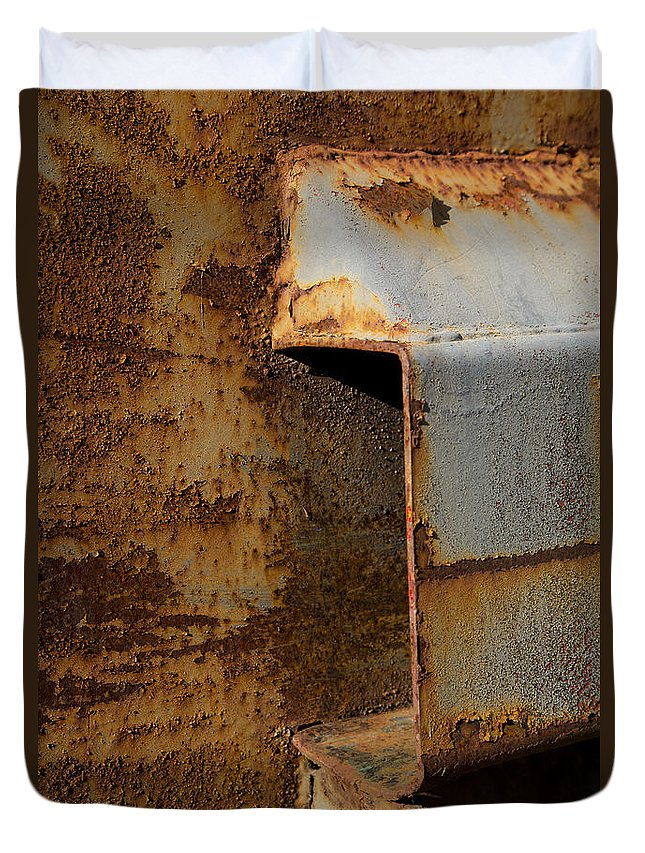 Aging With Rust Duvet Cover featuring the photograph Aging With Rust by Karol Livote
